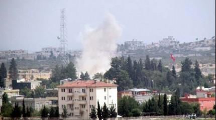 Suriye s�n�r�nda b�y�k patlama