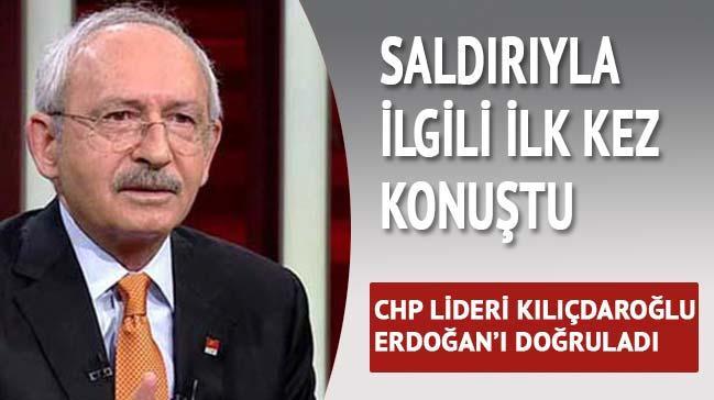 K�l��daro�lu, Erdo�an'� do�rulad�