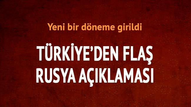 T�rkiye'den fla� Rusya a��klamas�