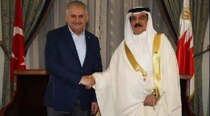 Ba�bakan Y�ld�r�m, Bahreyn Kral� El Halife ile g�r��t�