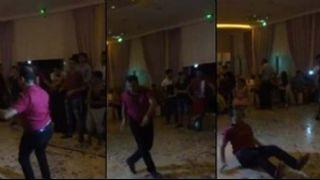 Hunharca dans eden adam  sosyal medyay� k�rd� ge�irdi