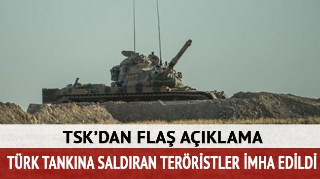 TSK: Cerablus'un bat�s�nda 1 tank roketle vuruldu, 3 asker yaraland�