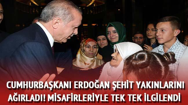 Cumhurba�kan� Erdo�an �ehit yak�nlar�n� a��rlad�