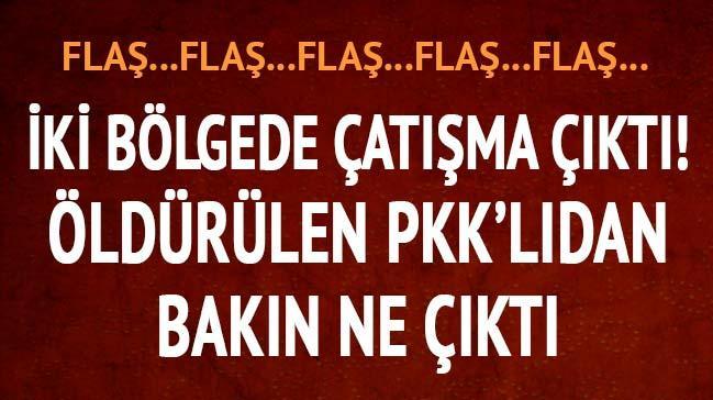 �ki b�lgede �at��ma ��kt�! �ld�r�len PKK'l�dan bak�n ne ��kt�