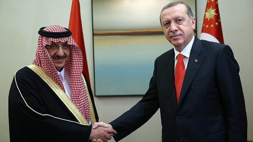 Cumhurba�kan� Erdo�an, Suudi Prensi kabul etti