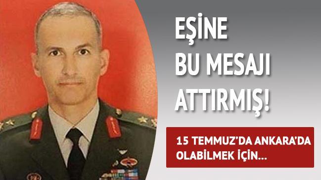 15 Temmuz'da Ankara'da olabilmek için eşini kullanmış