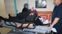 Konya'da kafasına kar düşen adam hastanelik oldu
