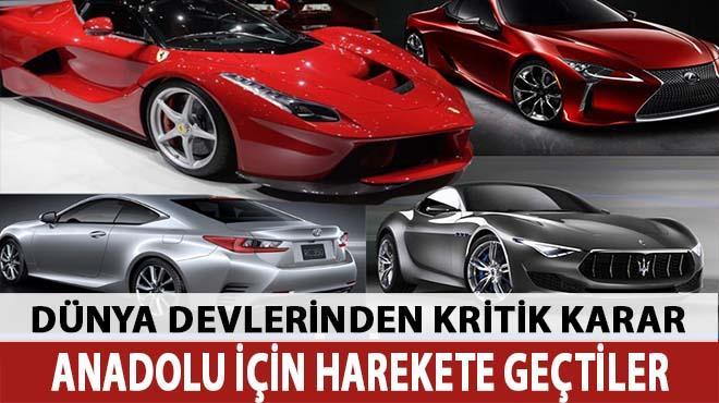 Otomobil devlerinden Türkiye hamlesi