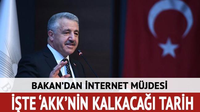 Ulaştırma Bakanı'ndan internet müjdesi