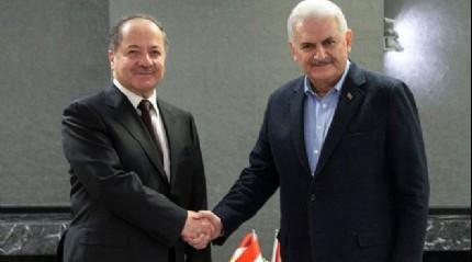 Başbakan Yıldırım-Barzani görüşmesinde terörle mücadele vurgusu