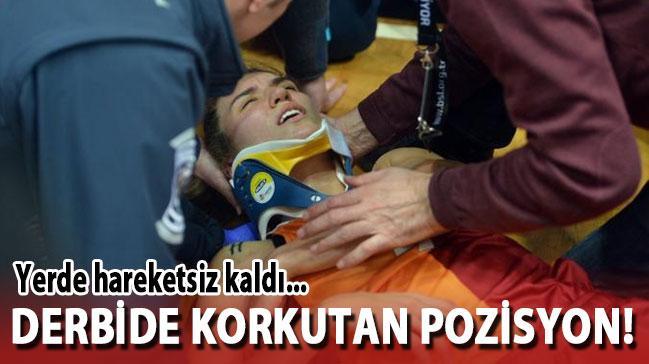 Beşiktaş-Galatasaray maçında korkutan pozisyon!