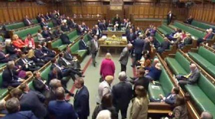 Saldırı anında İngiliz Parlamentosu
