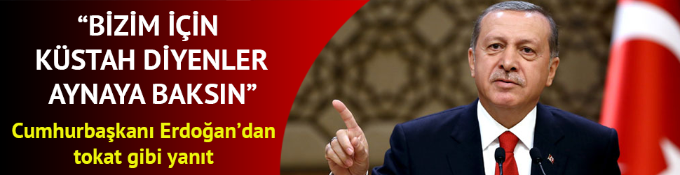 Cumhurbaşkanı Erdoğan: Bizim için küstah diyenler aynaya baksın