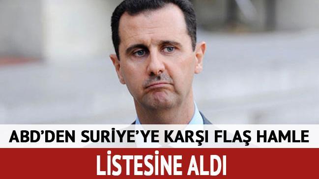 ABD yönetimi 271 Suriyeliyi yaptırım listesine aldı