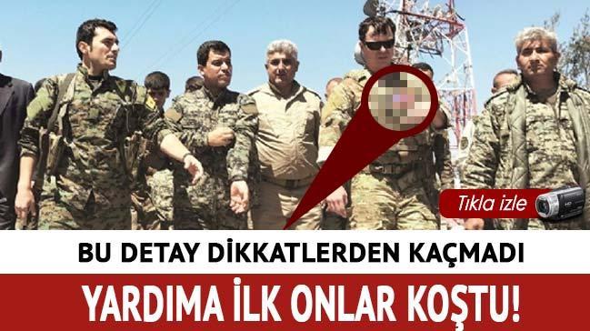 ABD'li askerler Sincar'da PKK'lı teröristlerle hasar tespiti yaptı