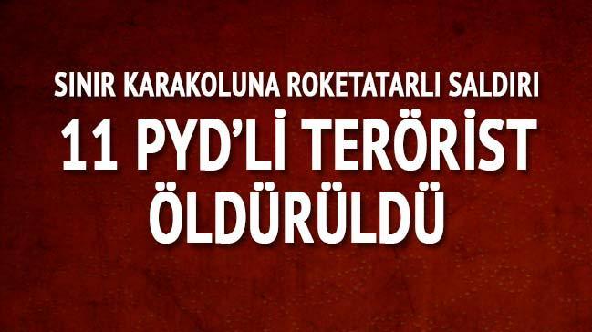 TSK: Suriye sınırında saldırıda bulunan 11 PYD'li terörist öldürüldü