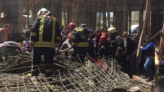 Samsun'da inşaat göçüğünde 4 kişi can verdi