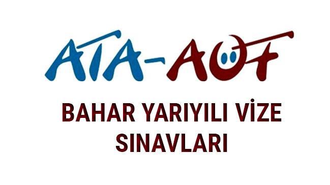 ATA AÖF Atatürk Üniversitesi bahar dönemi ara vize sınav sorular cevapları