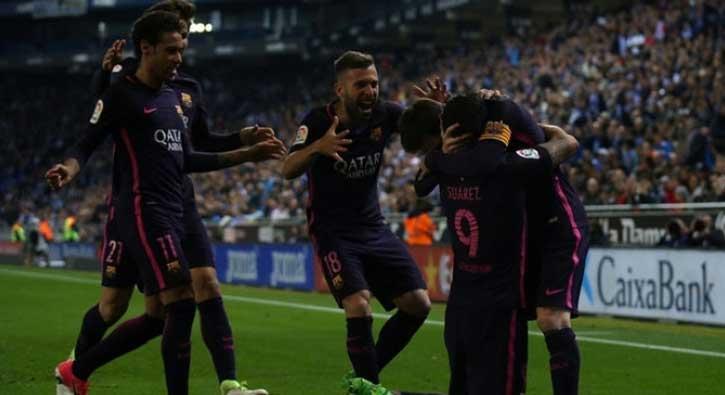 Barcelona deplasmanda Espanyol'u 3-0 mağlup etti