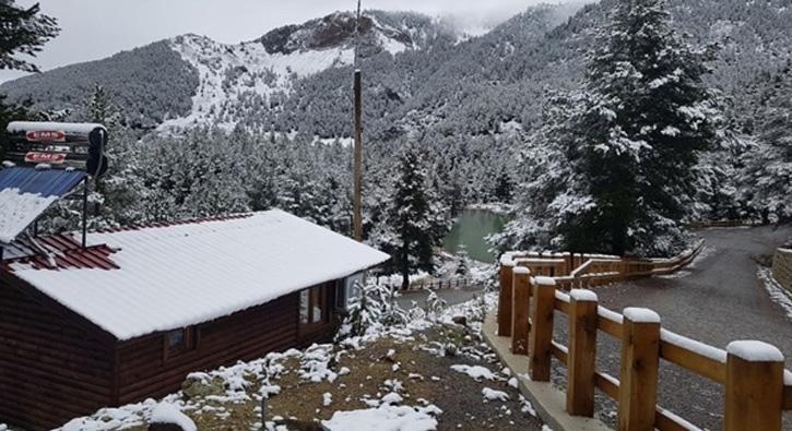 Gümüşhanelileri şaşırtan kar yağışı