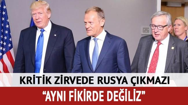 AB Konseyi Başkanı Tusk: ABD ile Rusya konusunda aynı görüşte olduğumuzu söyleyemem