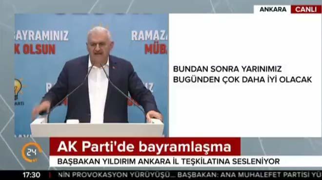 Başbakan Yıldırım AK Parti'nin bayramlaşmasında