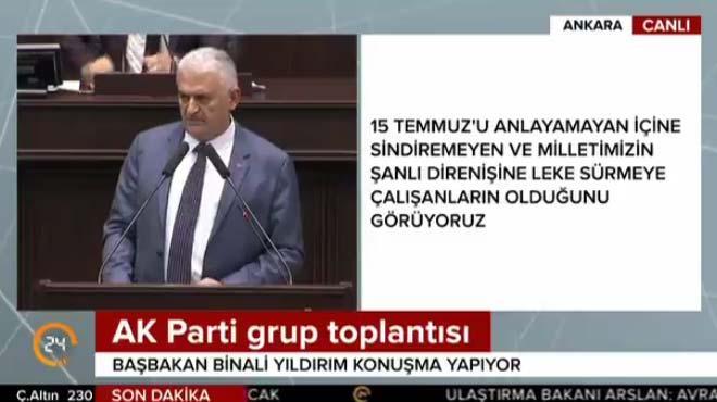 Başbakan Yıldırım'dan Kılıçdaroğlu'na FETÖ uyarısı: Dikkatli ol