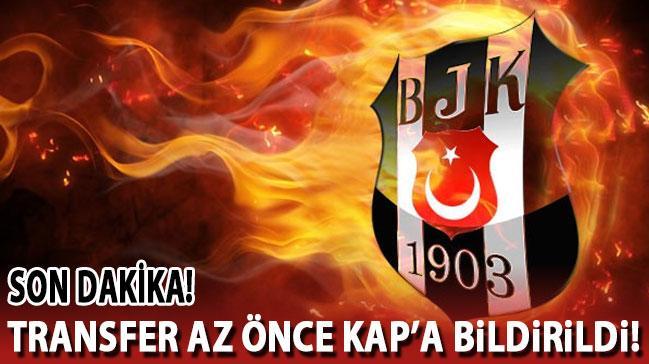 Beşiktaş transferi az önce KAP'a bildirdi!