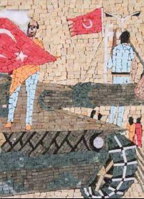 Suriyeli sanat tarihçisi 15 Temmuz Destanı'nı mozaiğe işledi