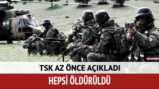 TSK açıkladı: 9 terörist öldürüldü