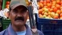 Hindistan'da fiyatı iki katına çıkan domatese silahlı koruma