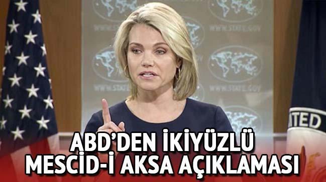 ABD İsrail'in Mescid-i Aksa'yı işgalci tavrına değinmeyip 'çabaları' takdir etti