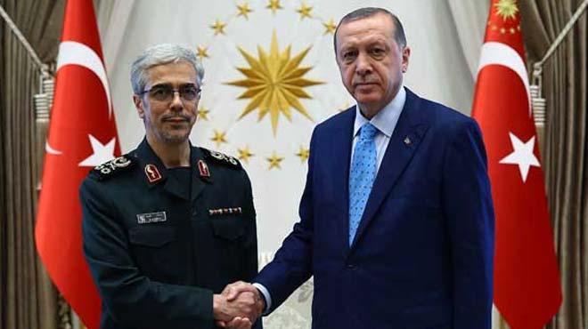 Cumhurbaşkanı Erdoğan, İran Genelkurmay Başkanını kabul etti