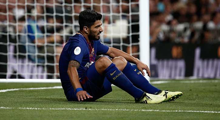 Luis Suarez sahalardan bir ay uzak kalacak