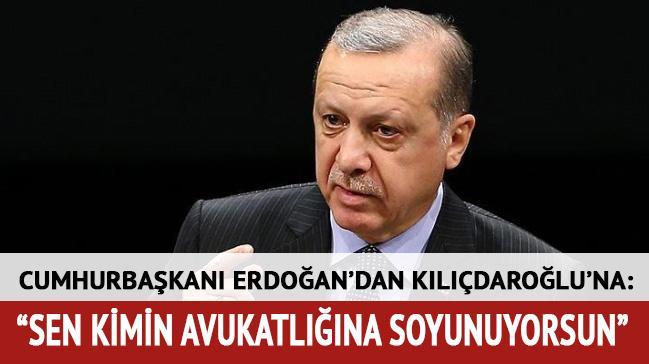 Cumhurbaşkanı Erdoğan: Sen kimin avukatlığına soyunuyorsun ey Kılıçdaroğlu?