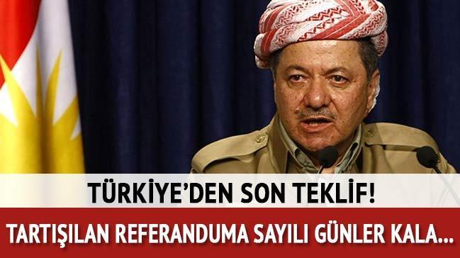 Türkiye'den Barzani'ye son teklif: Garantör olabiliriz