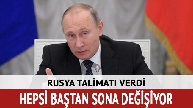 Rusya talimatı verdi