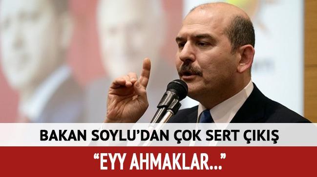 Bakan Soylu'dan çok sert açıklama: Ey ahmaklar...