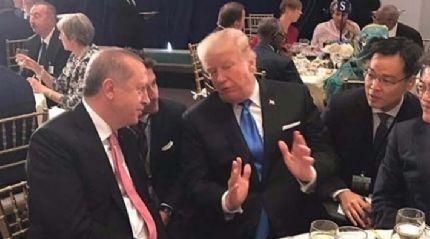 Cumhurbaşkanı Erdoğan Trump ile yemekte bir araya geldi