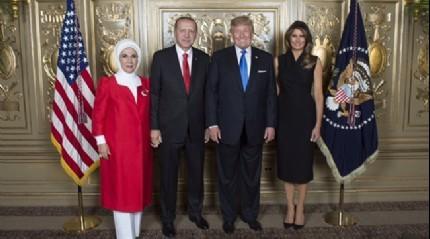 Erdoğan ile Trump ailesi BM resepsiyonuna katıldı