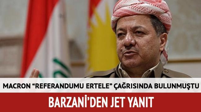 Barzani Macron'un referandum talebini reddetti