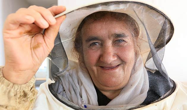 Vanlı kadın arıcılar bal hasadını yaptı