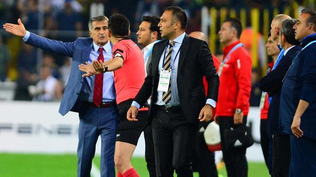 Giuliano'nun penaltı golünden sonra Şenol Güneş ve Aykut Kocaman arasında gerginlik yaşandı
