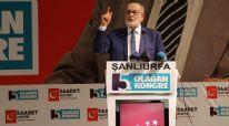Saadet Partisi Genel Başkanı Karamollaoğlu: Referandumu İsrail istiyor