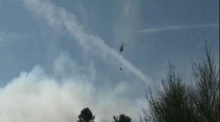 Sancaktepe'de askeri bölgedeki alanda yangın!