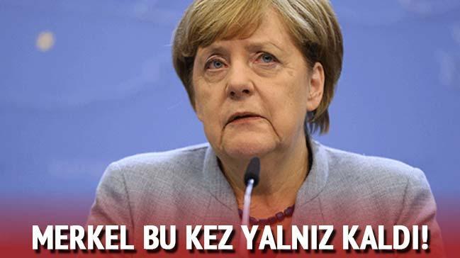 Merkel, AB Zirvesi'nde yalnız kaldı