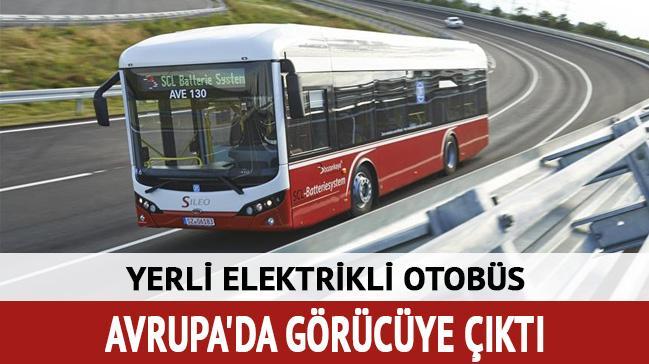 Yerli elektrikli otobüs Sıleo Avrupa'da görücüye çıktı
