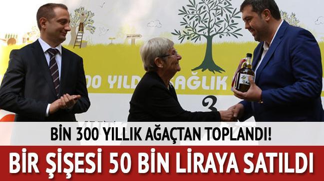 Bir şişesi 50 bin liraya satıldı