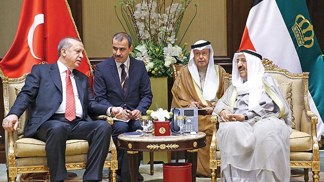 Erdoğan'a Kuveyt'temüstesna ağırlama