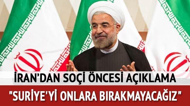 Ruhani'den Suriye açıklaması
